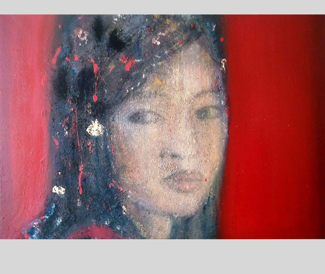 01oriental head IV, oil, pigments and gold plates over canvas, 170x120, 6000 eurs. 2012